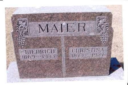 MAIER, FRIEDRICH - McIntosh County, North Dakota | FRIEDRICH MAIER - North Dakota Gravestone Photos