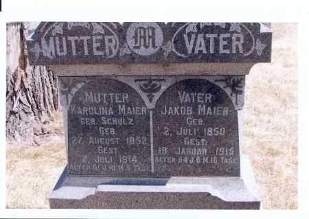 MAIER, JAKOB - McIntosh County, North Dakota   JAKOB MAIER - North Dakota Gravestone Photos