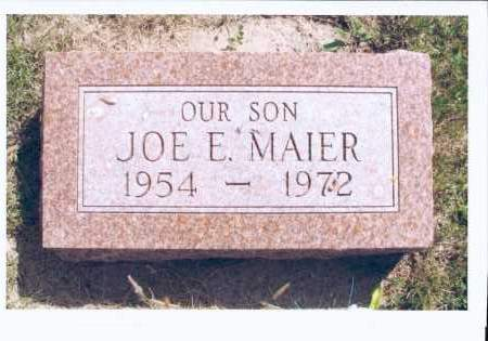 MAIER, JOE E. - McIntosh County, North Dakota | JOE E. MAIER - North Dakota Gravestone Photos