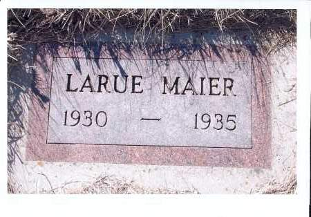 MAIER, LARUE - McIntosh County, North Dakota | LARUE MAIER - North Dakota Gravestone Photos