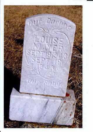 MAYER, LOUISE - McIntosh County, North Dakota | LOUISE MAYER - North Dakota Gravestone Photos