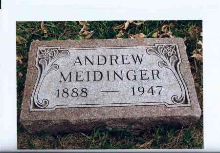 MEIDINGER, ANDREW - McIntosh County, North Dakota | ANDREW MEIDINGER - North Dakota Gravestone Photos