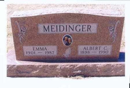 MEIDINGER, ALBERT C. - McIntosh County, North Dakota | ALBERT C. MEIDINGER - North Dakota Gravestone Photos