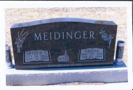 MEIDINGER, ARTHUR C. - McIntosh County, North Dakota | ARTHUR C. MEIDINGER - North Dakota Gravestone Photos