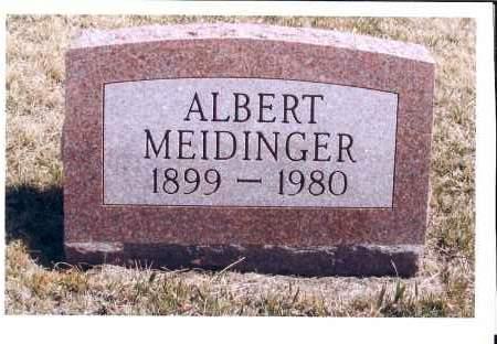 MEIDINGER, ALBERT - McIntosh County, North Dakota   ALBERT MEIDINGER - North Dakota Gravestone Photos