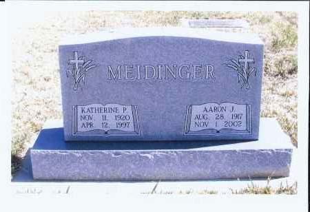 MEIDINGER, KATHERINE P. - McIntosh County, North Dakota   KATHERINE P. MEIDINGER - North Dakota Gravestone Photos