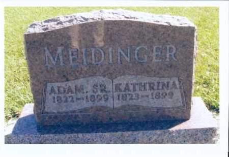 MEIDINGER, ADAM, SR. - McIntosh County, North Dakota | ADAM, SR. MEIDINGER - North Dakota Gravestone Photos