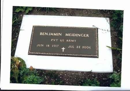 MEIDINGER, BENJAMIN - McIntosh County, North Dakota | BENJAMIN MEIDINGER - North Dakota Gravestone Photos