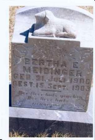 MEIDINGER, BERTHA E. - McIntosh County, North Dakota   BERTHA E. MEIDINGER - North Dakota Gravestone Photos