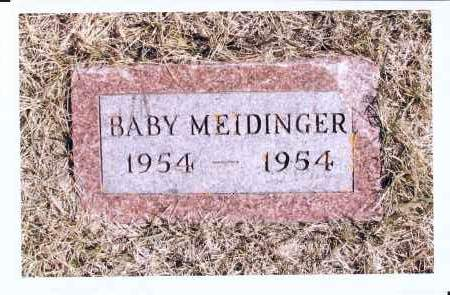 MEIDINGER, BABY - McIntosh County, North Dakota | BABY MEIDINGER - North Dakota Gravestone Photos