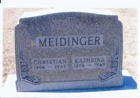 MEIDINGER, KATHRINA - McIntosh County, North Dakota | KATHRINA MEIDINGER - North Dakota Gravestone Photos