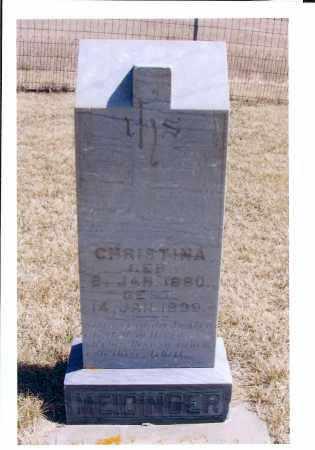 MEIDINGER, CHRISTINA - McIntosh County, North Dakota | CHRISTINA MEIDINGER - North Dakota Gravestone Photos