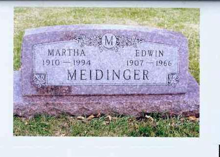 MEIDINGER, MARTHA - McIntosh County, North Dakota   MARTHA MEIDINGER - North Dakota Gravestone Photos