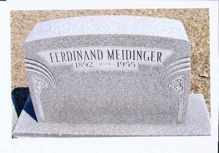 MEIDINGER, FERDINAND - McIntosh County, North Dakota | FERDINAND MEIDINGER - North Dakota Gravestone Photos