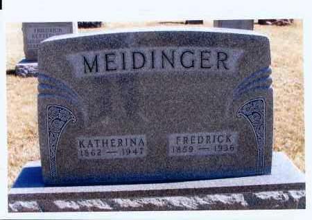 MEIDINGER, FREDRICK - McIntosh County, North Dakota | FREDRICK MEIDINGER - North Dakota Gravestone Photos