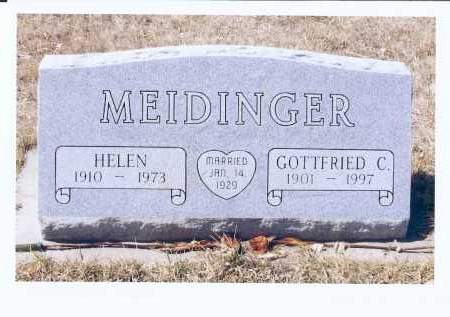 MEIDINGER, GOTTFRIED C. - McIntosh County, North Dakota | GOTTFRIED C. MEIDINGER - North Dakota Gravestone Photos