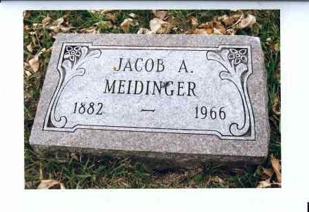 MEIDINGER, JACOB A. - McIntosh County, North Dakota | JACOB A. MEIDINGER - North Dakota Gravestone Photos