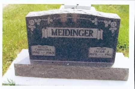 MEIDINGER, JACOB J. - McIntosh County, North Dakota | JACOB J. MEIDINGER - North Dakota Gravestone Photos