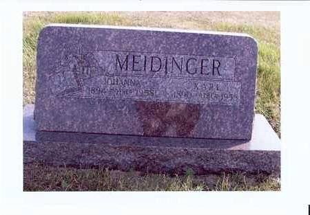 MEIDINGER, KARL - McIntosh County, North Dakota | KARL MEIDINGER - North Dakota Gravestone Photos