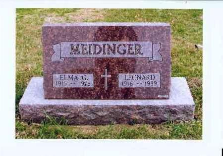 MEIDINGER, LEONARD - McIntosh County, North Dakota   LEONARD MEIDINGER - North Dakota Gravestone Photos