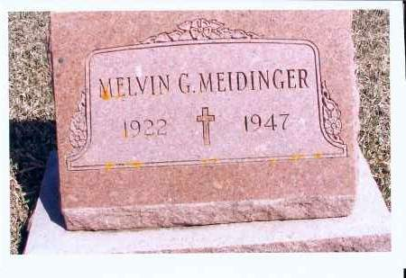 MEIDINGER, MELVIN G. - McIntosh County, North Dakota | MELVIN G. MEIDINGER - North Dakota Gravestone Photos