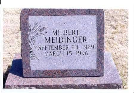 MEIDINGER, MILBERT - McIntosh County, North Dakota | MILBERT MEIDINGER - North Dakota Gravestone Photos