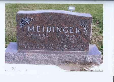MEIDINGER, NORMAN A. - McIntosh County, North Dakota | NORMAN A. MEIDINGER - North Dakota Gravestone Photos