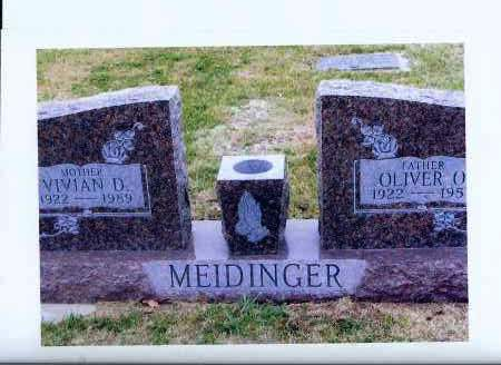 MEIDINGER, OLIVER O. - McIntosh County, North Dakota | OLIVER O. MEIDINGER - North Dakota Gravestone Photos