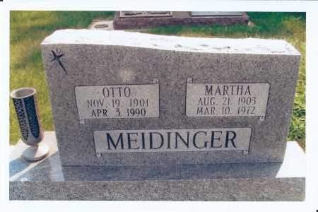 MEIDINGER, MARTHA - McIntosh County, North Dakota | MARTHA MEIDINGER - North Dakota Gravestone Photos