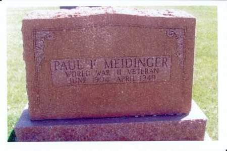 MEIDINGER, PAUL F. - McIntosh County, North Dakota | PAUL F. MEIDINGER - North Dakota Gravestone Photos