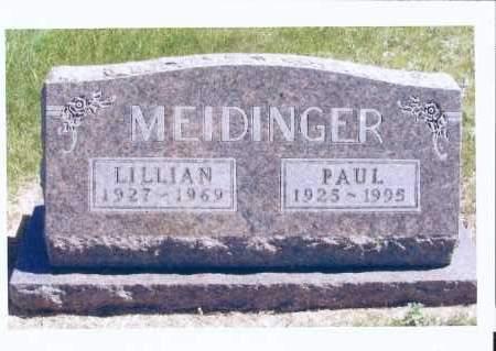 MEIDINGER, LILLIAN - McIntosh County, North Dakota | LILLIAN MEIDINGER - North Dakota Gravestone Photos
