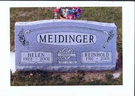 MEIDINGER, REINHOLD - McIntosh County, North Dakota | REINHOLD MEIDINGER - North Dakota Gravestone Photos