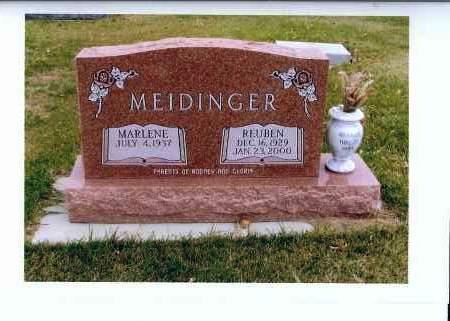 MEIDINGER, REUBEN - McIntosh County, North Dakota | REUBEN MEIDINGER - North Dakota Gravestone Photos