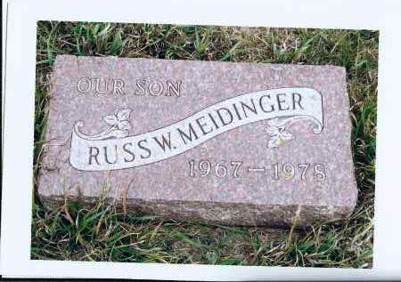 MEIDINGER, RUSS W. - McIntosh County, North Dakota | RUSS W. MEIDINGER - North Dakota Gravestone Photos