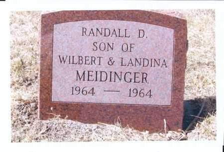 MEIDINGER, RANDALL D. - McIntosh County, North Dakota   RANDALL D. MEIDINGER - North Dakota Gravestone Photos