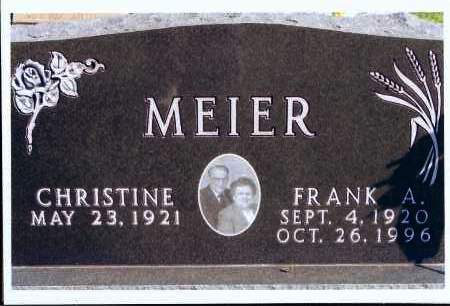 MEIER, FRANK A. - McIntosh County, North Dakota | FRANK A. MEIER - North Dakota Gravestone Photos