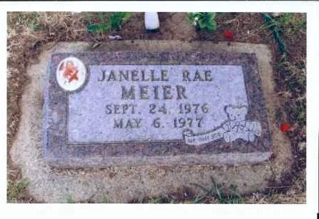 MEIER, JANELLE RAE - McIntosh County, North Dakota   JANELLE RAE MEIER - North Dakota Gravestone Photos