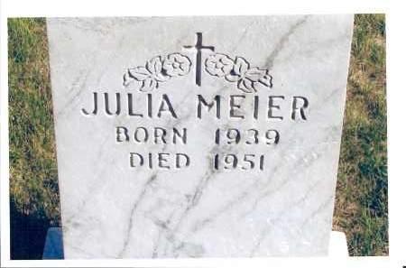 MEIER, JULIA - McIntosh County, North Dakota | JULIA MEIER - North Dakota Gravestone Photos