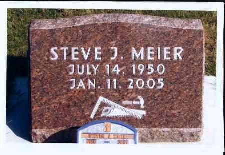 MEIER, STEVE J. - McIntosh County, North Dakota   STEVE J. MEIER - North Dakota Gravestone Photos