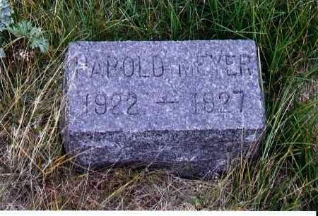 MEYER, HAROLD - McIntosh County, North Dakota   HAROLD MEYER - North Dakota Gravestone Photos