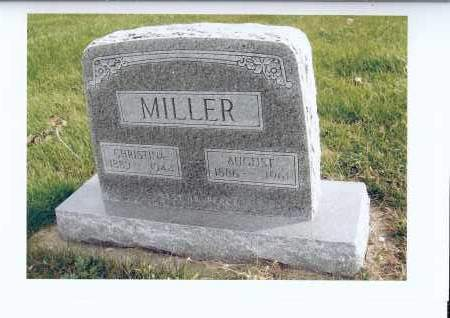 MILLER, AUGUST - McIntosh County, North Dakota | AUGUST MILLER - North Dakota Gravestone Photos