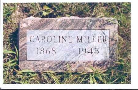 MILLER, CAROLINE - McIntosh County, North Dakota | CAROLINE MILLER - North Dakota Gravestone Photos