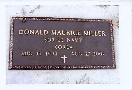 MILLER, DONALD MAURICE - McIntosh County, North Dakota | DONALD MAURICE MILLER - North Dakota Gravestone Photos