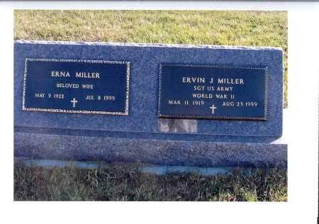 MILLER, ERNA - McIntosh County, North Dakota | ERNA MILLER - North Dakota Gravestone Photos