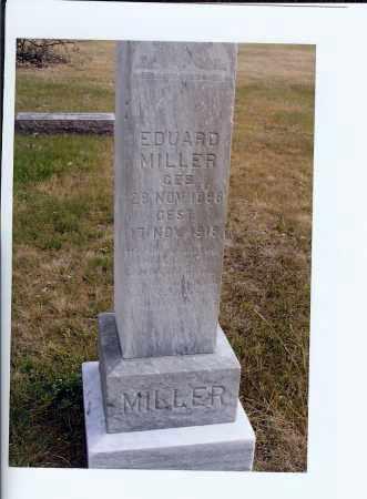 MILLER, EDUARD - McIntosh County, North Dakota   EDUARD MILLER - North Dakota Gravestone Photos