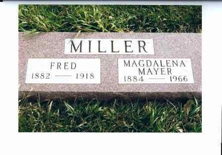 MILLER, FRED - McIntosh County, North Dakota | FRED MILLER - North Dakota Gravestone Photos