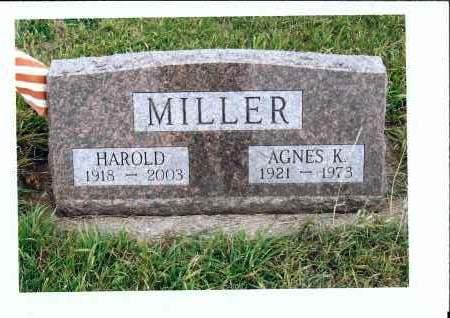 MILLER, HAROLD - McIntosh County, North Dakota | HAROLD MILLER - North Dakota Gravestone Photos