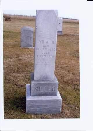 MILLER, LYDIA H. - McIntosh County, North Dakota | LYDIA H. MILLER - North Dakota Gravestone Photos