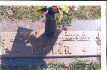MILLER, HERTHA H. - McIntosh County, North Dakota | HERTHA H. MILLER - North Dakota Gravestone Photos