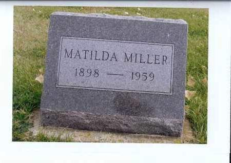 MILLER, MATILDA - McIntosh County, North Dakota | MATILDA MILLER - North Dakota Gravestone Photos